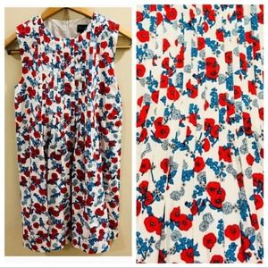 Oscar de la Renta Dress Poppies Print Girl Size 14